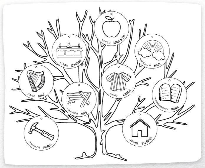 Jesus Family Tree Colouring Sheet Grow Ministries